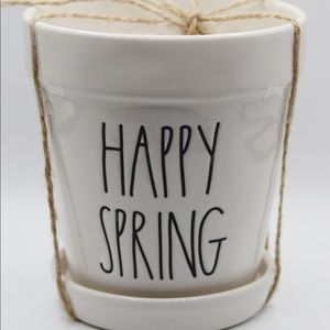 Rae Dunn Happy Spring Planter